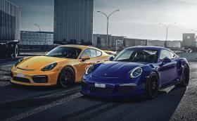 Porsche 911 GT3 RS или Cayman GT4? Супер галерия и фактите