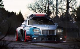 Този бибрутален Rolls Wraith просто няма как да е истински
