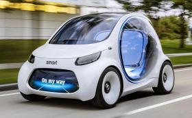Дали Smart Vision EQ ForTwo Concept е бъдещето на споделените пътувания? Или пък на Tinder? :-D