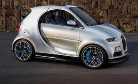 Ако имаше Smart Chiron - малка количка с 8-литров W16, четири турбини и 1500 коня. Доста готин рендър