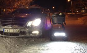 Детска количка с DRL-и от Mercedes-Benz. Защо не? Галерия