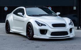 Това е Avalanche, базирана е на BMW E36 М3, а моторът е V8 с 420 коня. И е правена в Сливен. Галерия и инфо