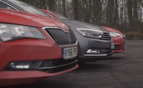 Superb vs Passat vs A4. Кое е най-доброто комби? Видео.