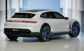 Porsche Mission E Cross Turismo e 800-волтов кросоувър с 600 коня. Вдига 100 за под 3,5 секунди