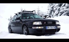 На ски с 1994 Audi RS2. Видео