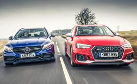 Merc C63S T-модел vs Audi RS4 Avant. Забележително сравнение и силна фотографска работа!