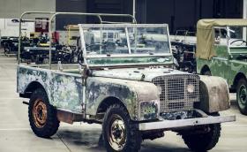 Първата изложбена кола на Land Rover изникна от нечий заден двор
