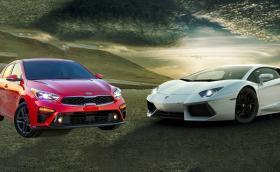 Kia Forte срещу… Lambo Aventador. Коя е по-добрата кола? Видео