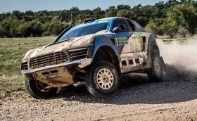 Това е ралиджийско 'Porsche Macan' с 5-литров Ford V8, който гори 70 л/100 км