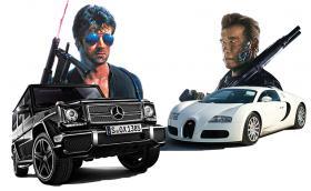 Кобра срещу Терминатор: това са автомобилите на Сталоун и Шварценегер. Видео