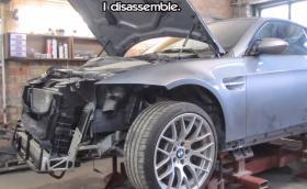 """Как ударено BMW М3 E92 се превръща в """"ново"""". Видео"""