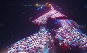 Отново в Китай: Най-голямото задръстване в света