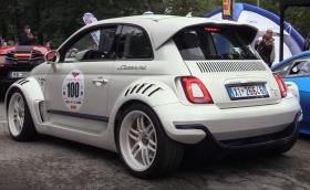 Giannini 350 GP e чудовищен Fiat 500 с мотор от Alfa 4C, 350 коня и окачване Öhlins