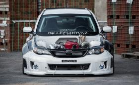 2012 Subaru WRX с мощен 700 коня RB28DETT мотор от R34 Nissan Skyline GT-R