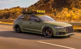Това RS 6 е по-зелено от танк. И доста по-бързо...