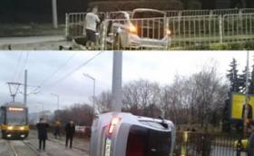 През две години: Софийско BMW M3 катастрофира два пъти на една и съща спирка. Няма пострадали, освен баварското бижу