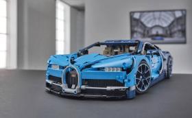 Bugatti Chiron от 3599 части Lego ни връща в детството. Много готина галерия!