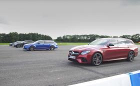 360-градусово видео показва драг на Tesla Model S vs BMW 760 vs Audi RS 6 vs Merc-AMG E63