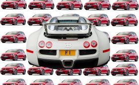 Табелата F1 се продава за 14,4 млн. паунда, стойността на 651 броя Golf GTI