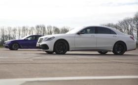 Merc-AMG S 63 срещу BMW M760Li. Кой е по-бърз? Кой спира по-добре? Видео
