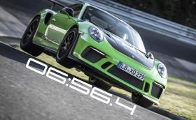 """Новото Porsche 911 GT3 RS записа 6:56.4 на """"Зеления Ад"""". С 24 сек. по-бързо е от стария модел. Видео"""