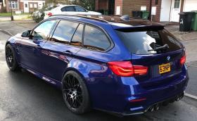 Това е BMW M3 F81, единствено в целия свят. Мощно е 530 коня, изглежда страхотно и е базирано на… 320d