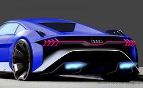 Audi RSQ e-tron няма ДВГ, изглежда като нещо от бъдещето