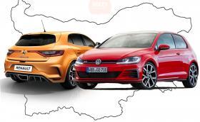 VW води по брой регистрации у нас от началото на годината, Renault са продали най-много нови коли. Малко статистика