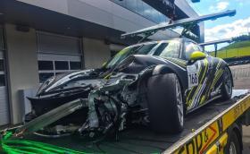 Георги Дончев разби новото си Porsche 991 GT3 Cup, след което се качи на подиума с кола под наем