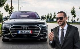 Тестваме новото Audi A8! Видео