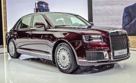 Aurus Senat, лимузината на Путин, се задвижва от 660-конна хибридна установка, сходна с тази на Porsche Panamera. Видео
