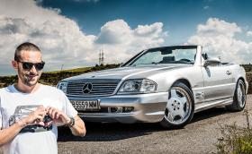 Караме прекрасния Mercedes-Benz SL 500 Silver Arrow, един от едва 1550 броя! Видео!