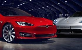 Tesla Model S срещу Porsche Taycan: всички важни параметри