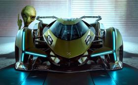 Lambo V12 Vision Gran Turismo Concept e италианска летяща чиния с 819 коня