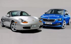 Това 20-годишно Porsche Boxster или чисто нова Skoda Scala?