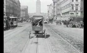 Разходете се виртуално из улиците на Сан Франциско през 1906 година. Видео