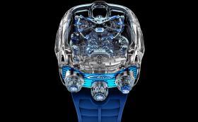 Часовникът Bugatti Chiron има миниатюрен колянов вал и бутала! Струва повече от колата ви!