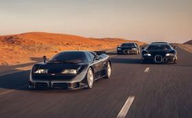 Впечатляваща галерия събира на едно място Bugatti EB110, Veyron и Chiron