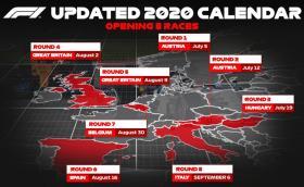 Формула 1 потвърди първите осем състезания за сезона: всичките са в Европа, започват на 5 юли