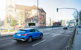 Ето как колите на Audi реално си комуникират със светофарите в Дюселдорф