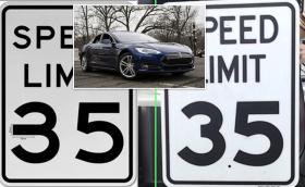 Парче тиксо заблуждава автопилота на Tesla да вдигне 140 в зона за 55 км/ч