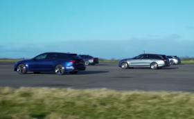Дочакахме! Новото Audi RS6 срещу BMW M5 Competition и компания на драг