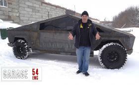 Този Cybertruck не е Tesla, а е УАЗ и е заваряван в Русия. Видео