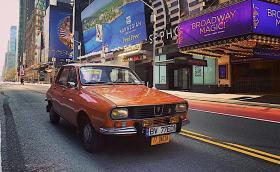 Румънец направи фотосесия по пустите улици на Ню Йорк. Засне Dacia 1300