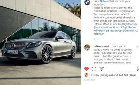 Защо BMW публикуваха снимка на Mercedes C-Class в официалния си Instagram профил?
