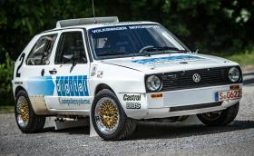 """Това е 1986 Volkswagen Golf с два турбо мотора от Polo, създаден за """"Пайкс Пийк"""""""