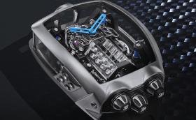 Това е часовник Bugatti Chiron. Има W16 двигател и струва 500 хил. лв.