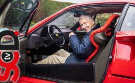 80-годишният Джон все още кара Ferrari F40 всеки ден. И има толкова истории за разказване!