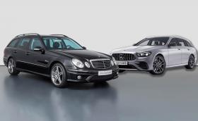 2006 Mercedes-Benz E 63 AMG T срещу 2021 Mercedes-AMG E 53 T