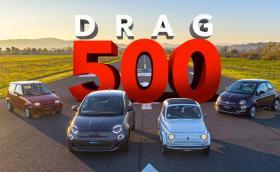 Вижте четири поколения FIAT 500 на драг! Видео